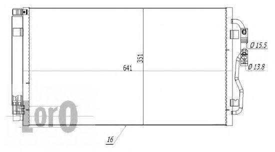 Конденсатор, кондиционер LORO 0040160024
