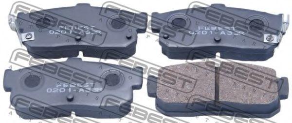 Колодки тормозные FEBEST 0201-A33R