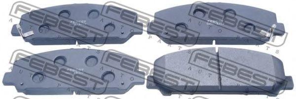 Колодки тормозные FEBEST 0201-R51F