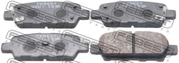 Колодки тормозные задние FEBEST 0201T31R