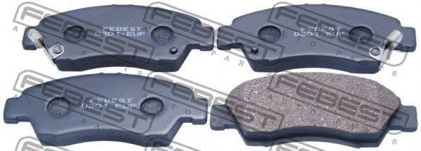 Колодки тормозные FEBEST 0301-EUF