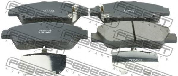 Колодки тормозные FEBEST 0301-GEF