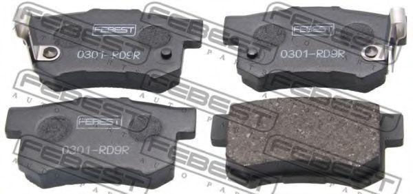 Колодки тормозные FEBEST 0301-RD9R