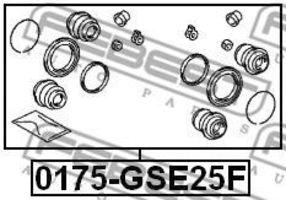 Изображение Ремкомплект суппорта FEBEST 0175GSE25F: стоимость