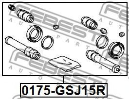Изображение Ремкомплект суппорта FEBEST 0175GSJ15R: цена