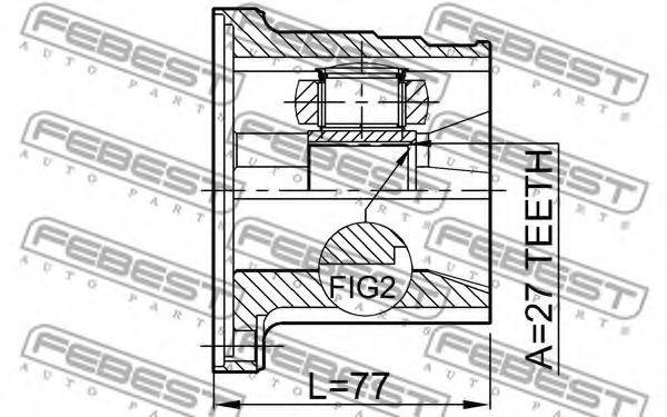 Изображение ШРУС внутренний левый FEBEST 0211FX35LH: стоимость