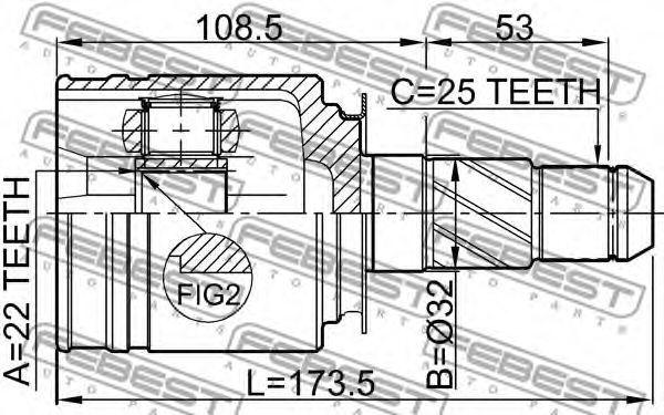 Изображение ШРУС внутренний FEBEST 0211FX35RH: продажа