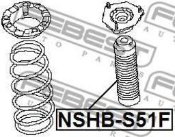Изображение Пыльник амортизатора переднего FEBEST NSHBS51F: купить