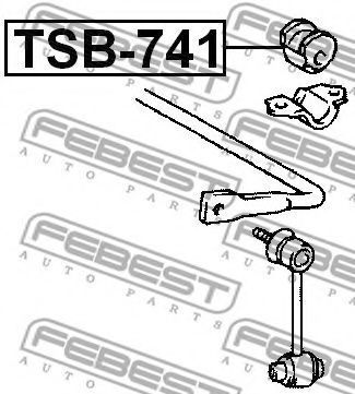 Изображение Втулка стабилизатора FEBEST TSB741: стоимость