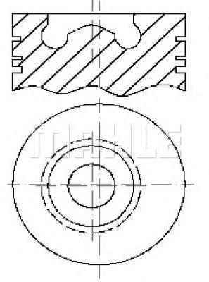Поршень METAL LEVE P2104