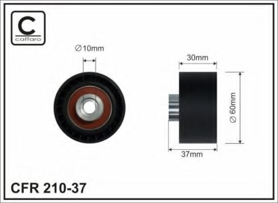 Ролик обводной CAFFARO 21037