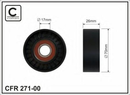 Ролик ремня CAFFARO 271-00