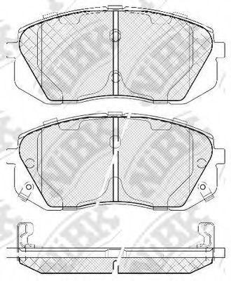 Колодки тормозные NIBK PN0052