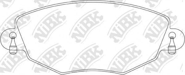 Колодки тормозные NIBK PN0159