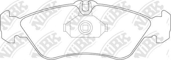 Колодки тормозные задние NIBK PN0169
