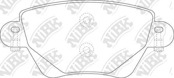 Колодки тормозные NIBK PN0194