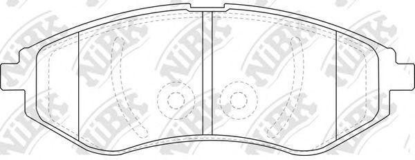 Колодки тормозные передние NIBK PN-0370