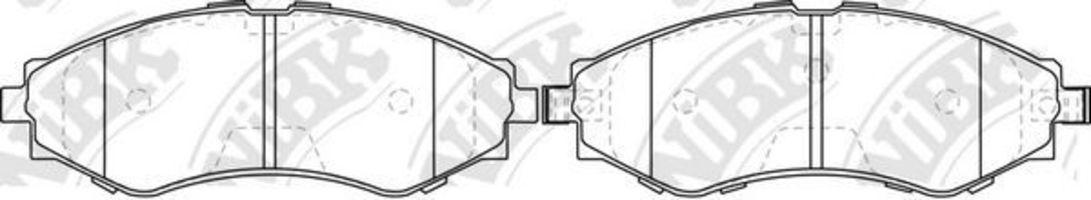Колодки тормозные передние NIBK PN0374