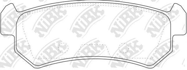 Колодки тормозные NIBK PN0376