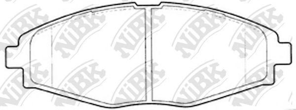 Колодки тормозные передние NIBK PN0390