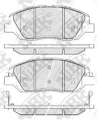 Колодки тормозные передние NIBK PN0446