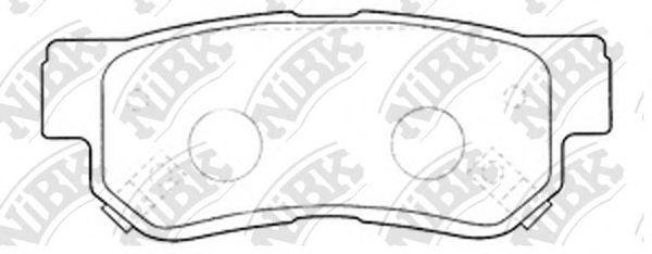 Колодки тормозные задние NIBK PN0539
