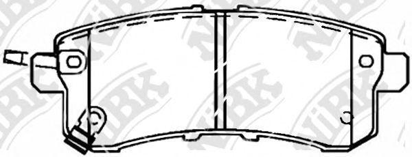 Колодки тормозные NIBK PN0554