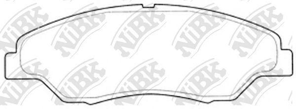 Колодки тормозные передние NIBK PN0634