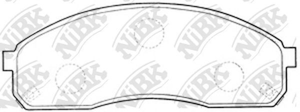Колодки тормозные передние NIBK PN0671