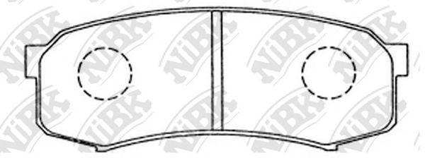Колодки тормозные задние NIBK PN1243