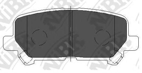 Колодки тормозные NIBK PN28002