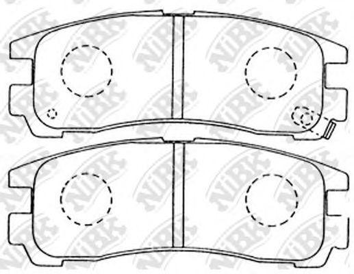 Колодки тормозные задние NIBK PN3174