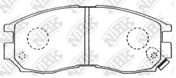 Колодки тормозные NIBK PN3271