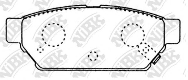 Колодки тормозные задние NIBK PN3314