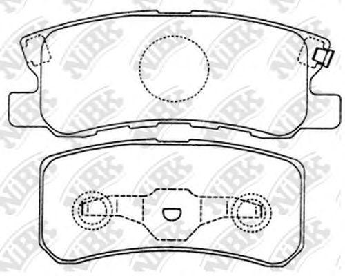 Колодки тормозные задние NIBK PN3450