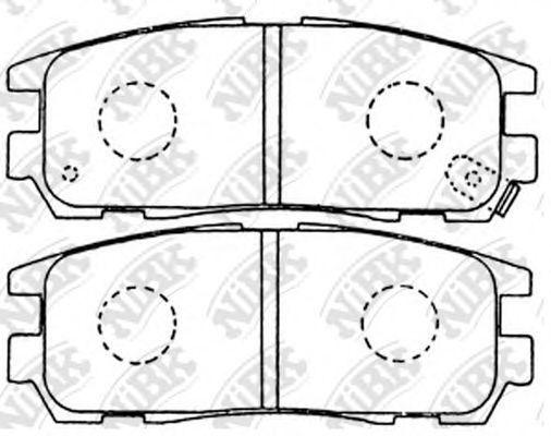 Колодки тормозные задние NIBK PN4299