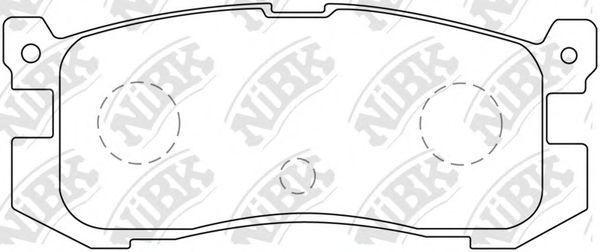 Колодки тормозные NIBK PN5195
