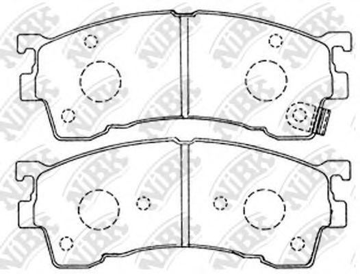 Колодки тормозные передние NIBK PN5239