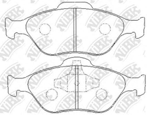 Колодки тормозные передние NIBK PN5495