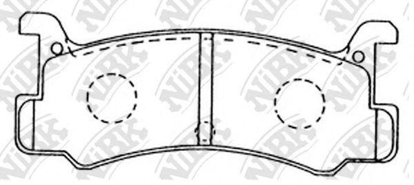 Колодки тормозные задние NIBK PN6353