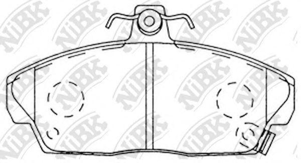 Колодки тормозные передние NIBK PN8103