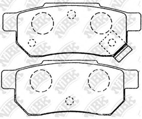 Колодки тормозные задние NIBK PN8206