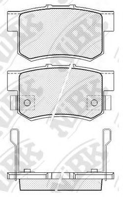 Колодки тормозные задние NIBK PN8397