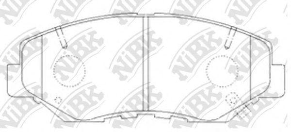 Колодки тормозные передние NIBK PN8485