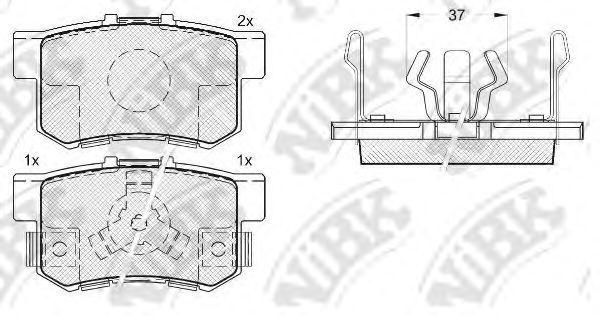 Колодки тормозные NIBK PN8807