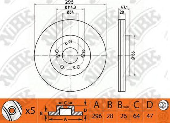 Диск тормозной NIBK RN1243