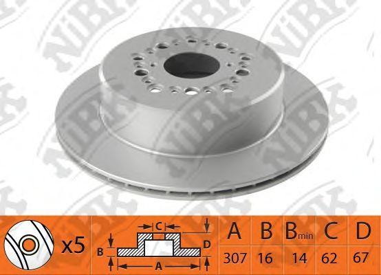Изображение Тормозной диск NIBK RN1488: цена