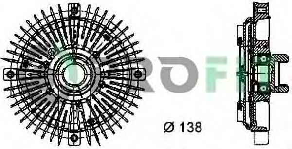 Вискомуфта PROFIT 1720-1010