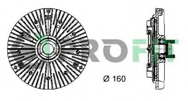 Вискомуфта PROFIT 1720-2012
