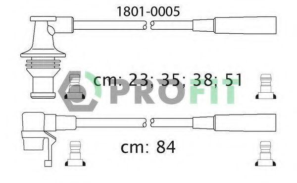 Провода высоковольтные комплект PROFIT 18010005